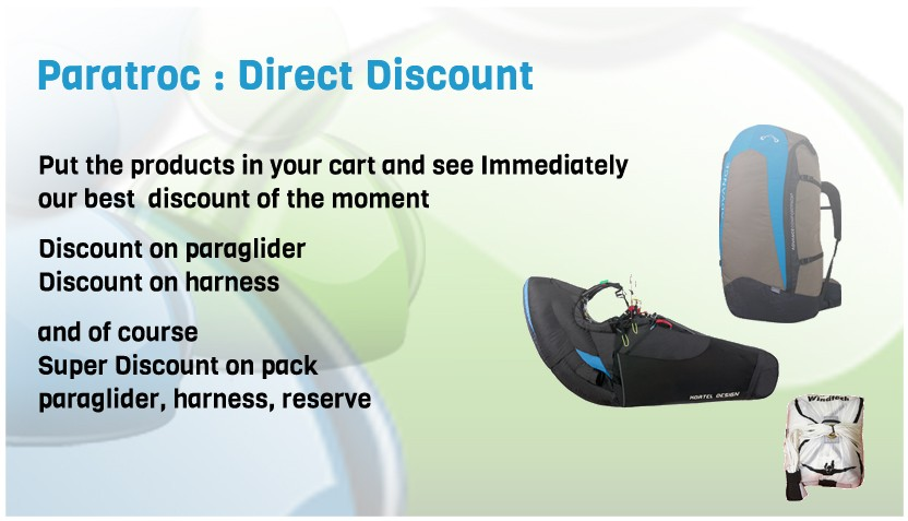 Paratroc - Discount on paragliding equipment