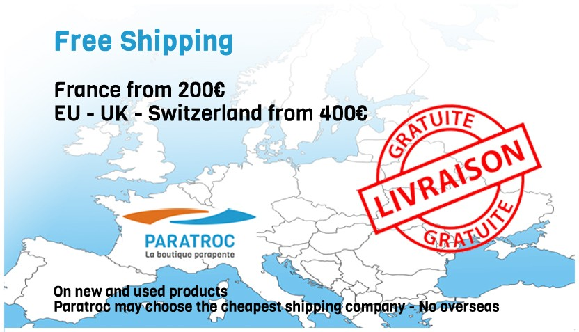 free shipping Europe - UK - Switzerland from 400€