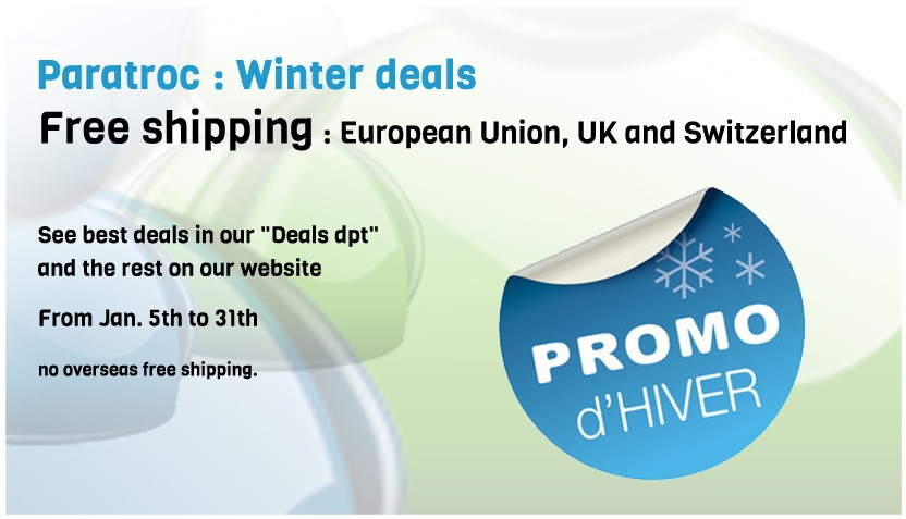 Paratroc - Winter Deals - free shipping in Europe