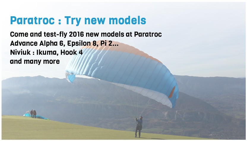 try new gliders 2016 at Paratroc