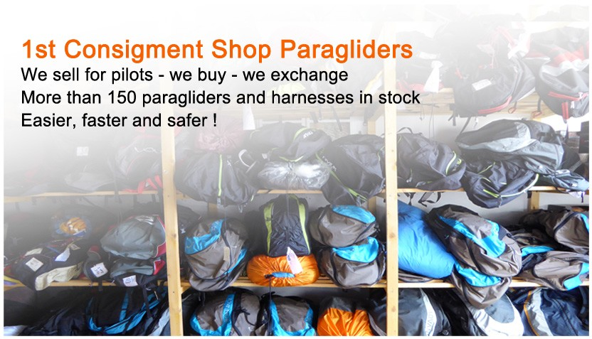 Consigment shop paragliding equipment