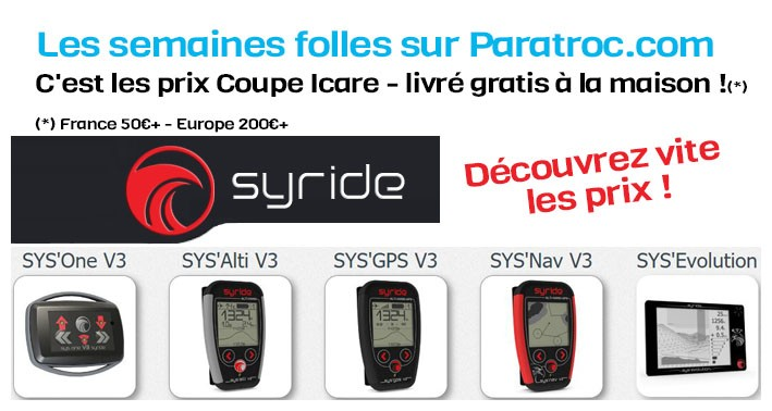 Syride prix coupe icare