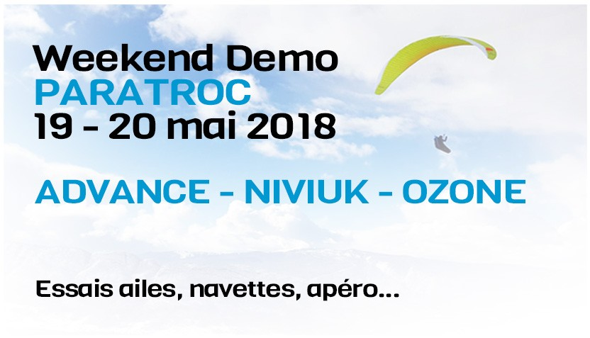 weekend Démo Paratroc - Advance Ozone Niviuk