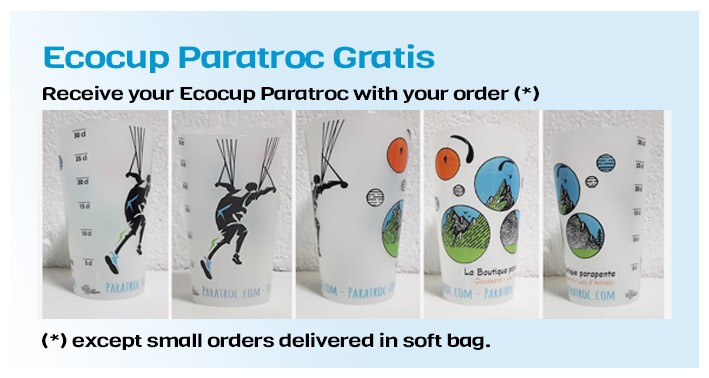Receive your Eco cup Paratroc with your order