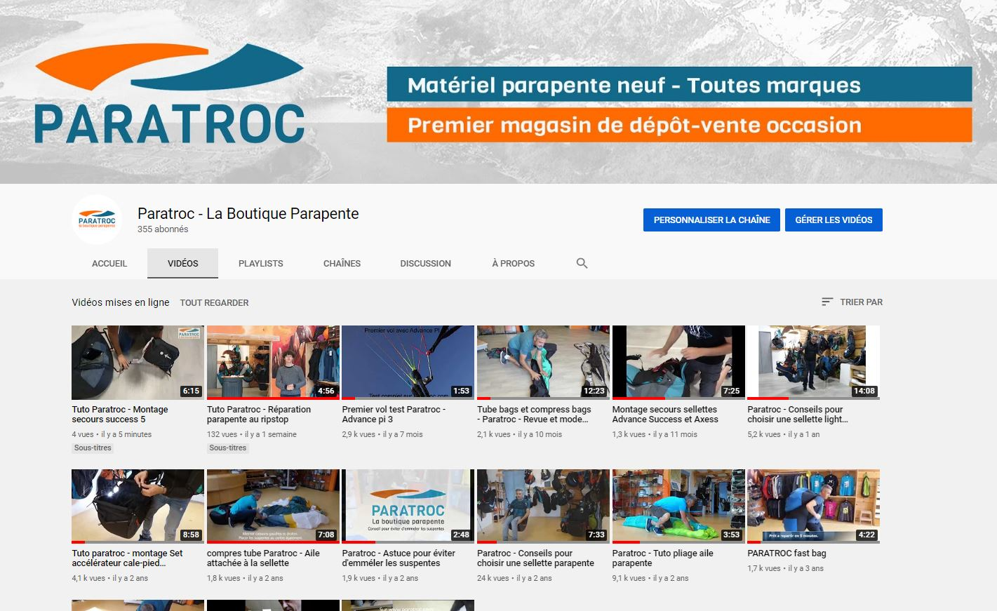 CHANNEL YOUTUBE PARATROC